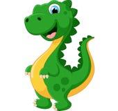 Dinossauro feliz dos desenhos animados Imagens de Stock Royalty Free