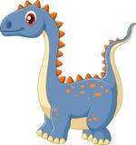 Dinossauro feliz dos desenhos animados ilustração royalty free