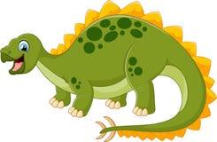 Dinossauro feliz dos desenhos animados com bankground branco Foto de Stock Royalty Free