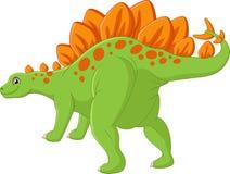 Dinossauro feliz dos desenhos animados com fundo branco Fotografia de Stock Royalty Free