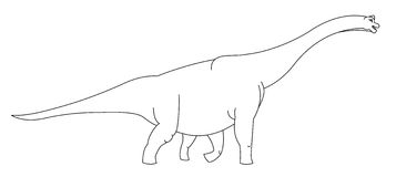 Dinossauro gigante preto e branco Foto de Stock Royalty Free