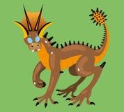 Dinossauro inteligente. ilustração do vetor