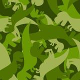 Dinossauro militar do teste padrão Textura do exército do tiranossauro Fotos de Stock Royalty Free