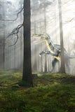 Dinossauro na floresta fotos de stock royalty free