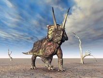 Dinossauro Pentaceratops ilustração royalty free