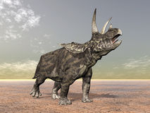 Dinossauro Pentaceratops ilustração do vetor