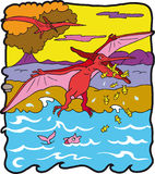 Dinossauro Pteranodonte Imagem de Stock