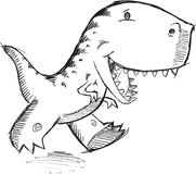 Dinossauro T-Rex da garatuja Imagens de Stock Royalty Free