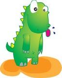 Dinossauro verde ilustração do vetor