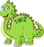 Dinossauro verde com ilustração da cauda dos pontos Imagem de Stock Royalty Free