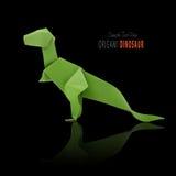 Dinossauro verde de papel imagem de stock royalty free