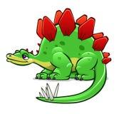 Dinossauro verde dos desenhos animados Fotografia de Stock Royalty Free