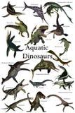 Dinossauros aquáticos ilustração royalty free