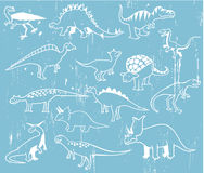 Dinossauros bonitos dos desenhos animados ilustração stock