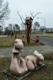Dinossauros da argila Fotografia de Stock