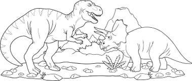 Dinossauros da batalha Fotografia de Stock