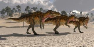 Dinossauros do Acrocanthosaurus ilustração stock