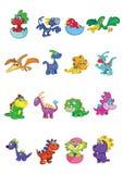 Dinossauros do bebê dos desenhos animados Fotos de Stock Royalty Free