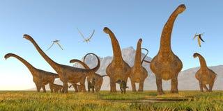 Dinossauros do Malawisaurus Fotos de Stock Royalty Free