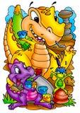 Dinossauros engraçados Fotos de Stock Royalty Free