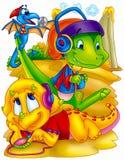 Dinossauros engraçados Imagens de Stock
