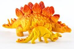 Dinossauros plásticos Imagens de Stock Royalty Free