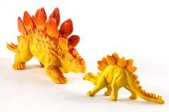 Dinossauros plásticos Foto de Stock Royalty Free