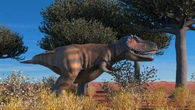 Dinosuar 3D Rendering. Dinosour life in forest. Photo 3D Royalty Free Stock Photography