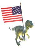 dinozaur amerykańskiej flagi Obrazy Stock