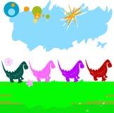 dinozaury royalty ilustracja