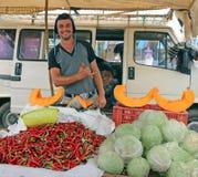 Dinsdag Souk in Azrou, Marokko stock foto