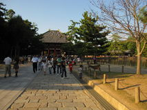 Dintorni del tempio di Todai-ji, Nara Japan Fotografia Stock