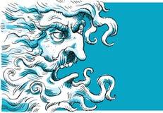 Dio arrabbiato royalty illustrazione gratis