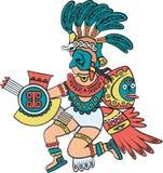 Dio azteco, versione di colore Fotografia Stock