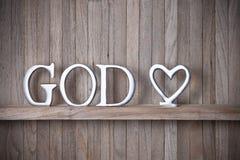 Dio Christian Love Wood Background Fotografia Stock Libera da Diritti