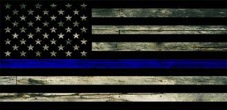 IN DIO CI FIDIAMO, strutturato della bandiera americana sbiadita con l'incrocio Fotografia Stock Libera da Diritti