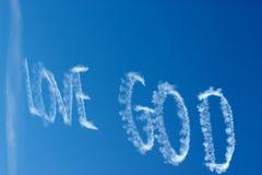 Dio di amore nel cielo Fotografia Stock