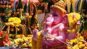 Dio di Ganesh di colore di rosa di bambino in Tailandia Fotografie Stock Libere da Diritti