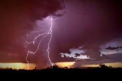Dio di Glory Thunders Fotografie Stock