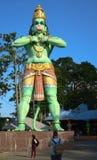 Dio di Hanuman Hindu dalla parte anteriore fotografia stock libera da diritti