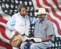 Dio e cowboy del paese Fotografia Stock Libera da Diritti