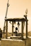 Dio Shiva al picco di Triund fotografia stock libera da diritti