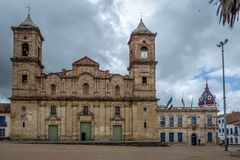 Diocesan Cathedral of Zipaquira Cathedral of the Most Holy Trinity at main square - Zipaquira, Colombia Royalty Free Stock Photos