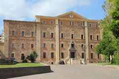 Diocesanmuseet av Oristano i Sardinia Italien arkivbilder