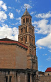 Diocletean`s palace cathedral tower, Split town Royalty Free Stock Photography