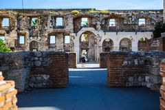 diocletian宫殿已分解 库存照片