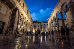 Diocletian的宫殿-分裂,克罗地亚 免版税库存照片