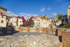 Diocletian的宫殿(联合国科教文组织遗产站点) 库存图片