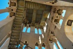 Diocletian pałac inside zdjęcie stock