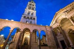 Diocletian pałac - rozłam, Chorwacja zdjęcie stock